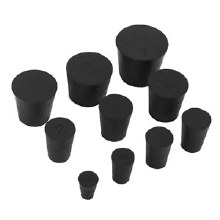 Stopper, Rubber Solid, #00