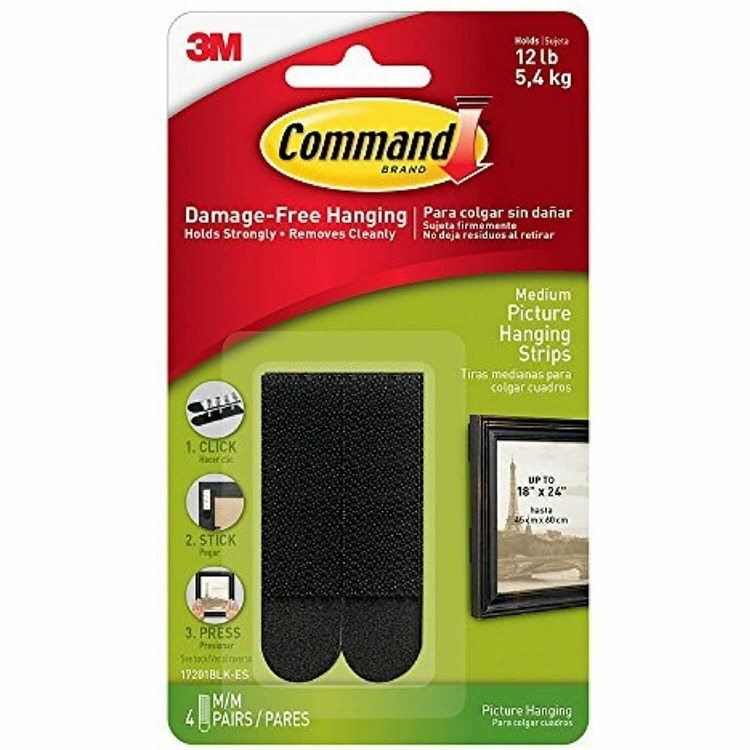 3M COMMAND PICTURE HANGING STRIPS MED BLK