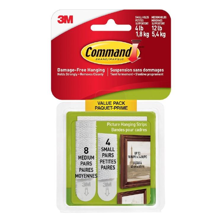 3M COMMAND VALUE PACK MEDIUM/LARGE