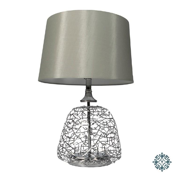 ALLEGRA TABLE LAMP WHITE LINEN SHADE 62CM