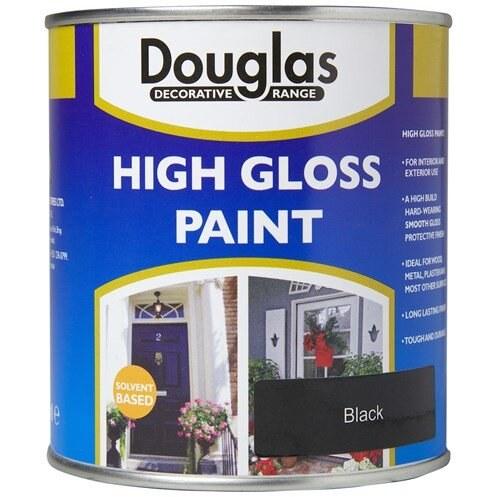 DOUGLAS HIGH GLOSS PAINT 250ML BLACK