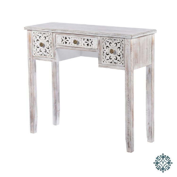 JESSIE CONSOLE TABLE ANT WHITE