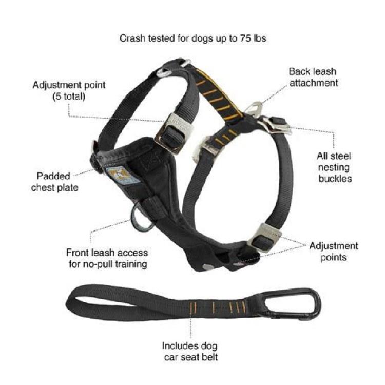KURGO ENHANCED STRENGTH TRU-FIT DOG CAR HARNESS EXTRA LARGE