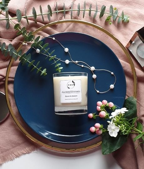 PINK GRAPEFRUIT & VANILLA CANDLE