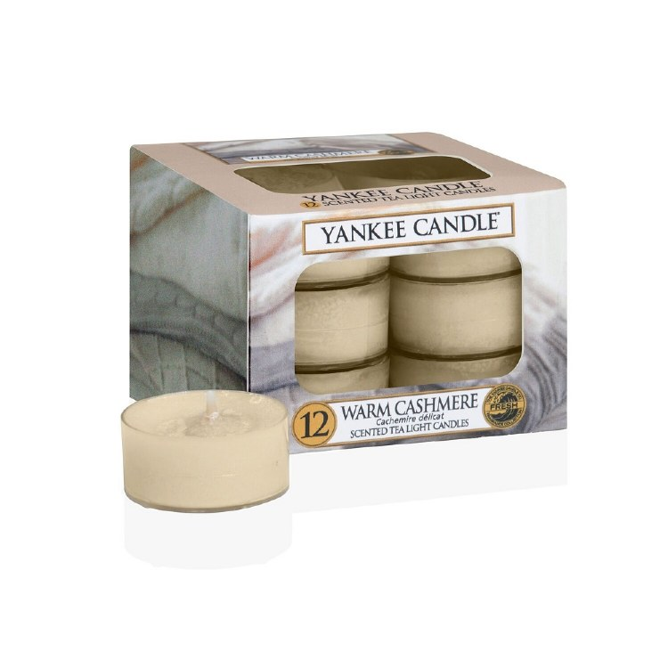 YANKEE CANDLE WARM CASHMERE TEALIGHTS - BOX OF 12