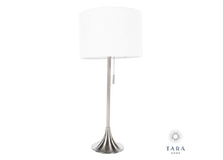 ZARA TABLE LAMP SATIN SILVER
