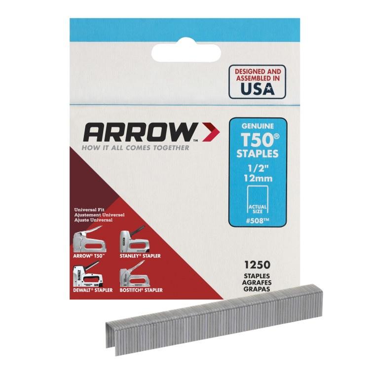 "ARROW STAPLES T50 1/2"" X 1250"