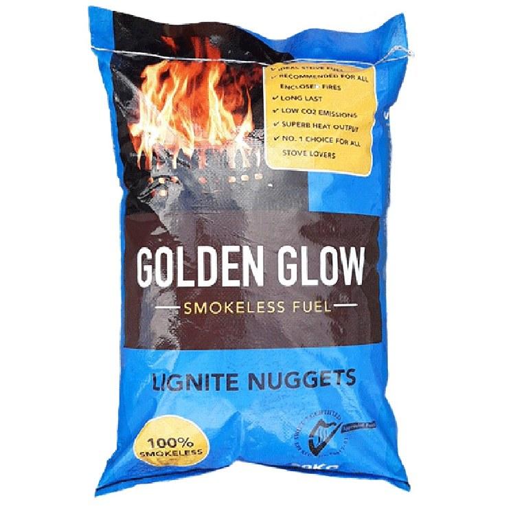 GOLDEN GLOW SMOKELESS LIGNITE NUGGETS 20KG