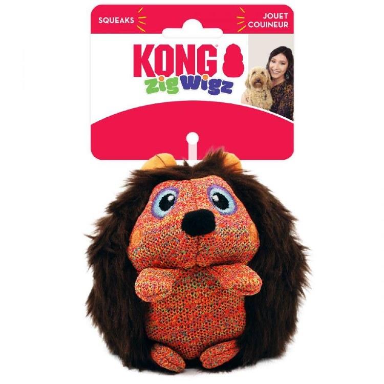 KONG ZIGWIGZ HEDGEHOG MED DOG TOY