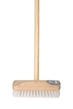 """10"""" STIFF SWEEPING BRUSH WITH WOODEN HANDLE"""