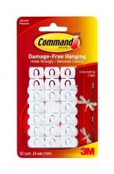 3M COMMAND DECORATION CLIPS