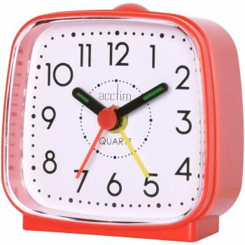 ACCTIM ALARM CLOCK RED