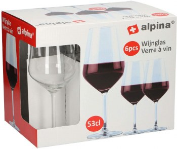 ALPINA RED WINE GLASS 6PCE