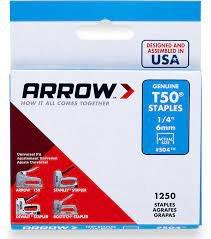 ARROW 1/4 T50 STAPLES