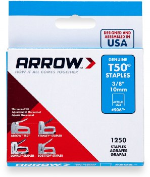"ARROW T50 3/8"" STAPLES  A50624"
