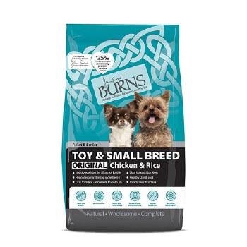 BURNS ORIGINAL TOY & SMALL DOG CHICKEN & RICE 2KG