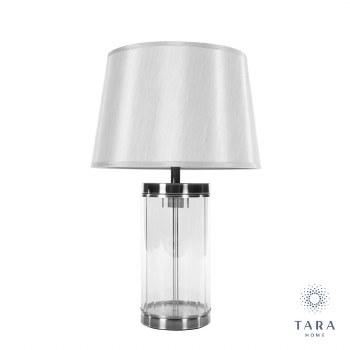 CARLEE TABLE LAMP SATIN SILVER 55 CM