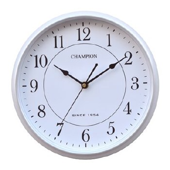 CHAMPION WALL CLOCK SILVER