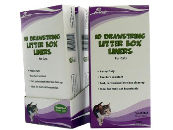 CHEEKO 10 LITTER BOX LINER SML/MED D`STRING