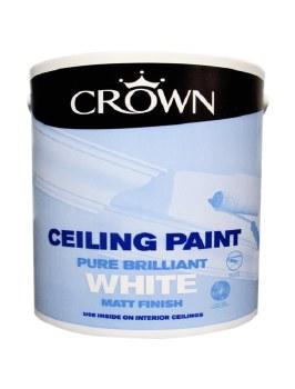 CROWN CEILING PAINT BRILLIANT WHITE 5L