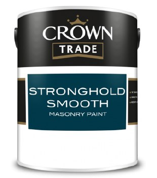 CROWN TRADE STRONGHOLD SMOOTH MASONRY PAINT - SCORCHED EARTH 5LT