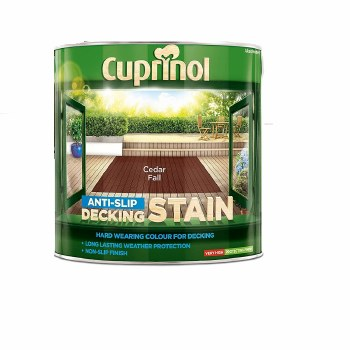 CUPRINOL ANTISLIP DECKING STAIN CEDAR FALL 2.5L