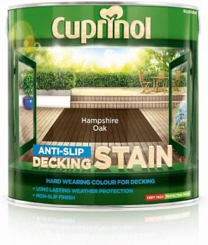 CUPRINOL ANTISLIP DECKING STAIN HAMPSHIRE OAK 2.5L