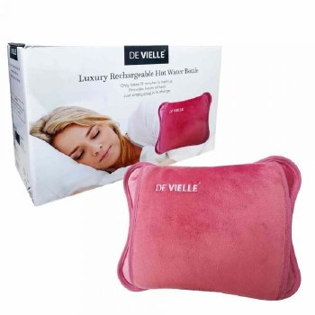 DEVIELLE RECHARGEABLE HOT WATER BOTTLE PINK