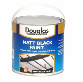 DOUGLAS MATT BLACK PAINT 2.5L