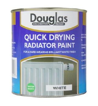 DOUGLAS QUICK DRYING RADIATOR PAINT - WHITE 500ML