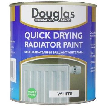 DOUGLAS QUICK DRYING RADIATOR PAINT 250ML WHITE