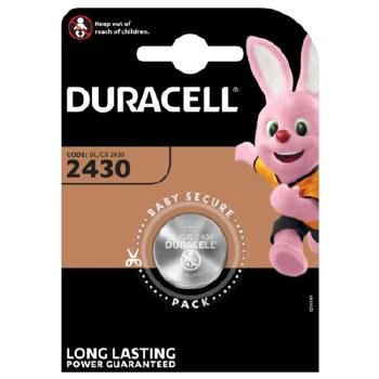 DURACELL CR2430 LITHIUM BATTERY CARD 1
