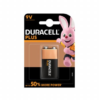 DURACELL PLUS BATTERY SIZE 9V CARD 1