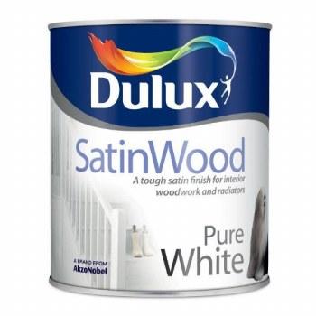 Dulux Satinwood Mid Sheen Paint 2.5L - BRILLIANT WHITE
