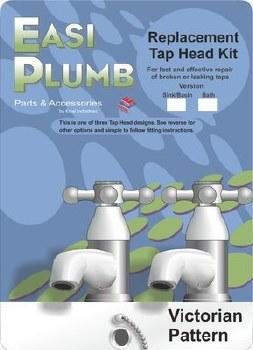 "EASI PLUMB 3/4"" REPLACEMENT TAP HEAD KIT VICTORIAN PATTERN"