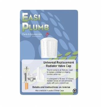 EASI PLUMB SINGLE UNIVERSAL REPLACEMENT RADIATOR VALVE CAP
