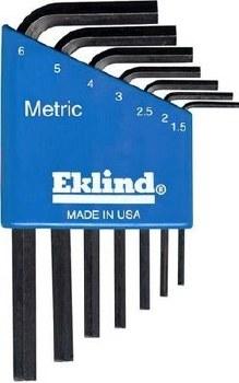 EKLIND 7 PC SHORT METRIC HEX L KEY SET
