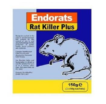 ENDORATS RAT KILLER PLUS 150 GRM (3 X 50 GRM)