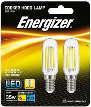 ENERGIZER 4 W (35W) E14 LED COOKER HOOD FILAMENT LAMP WARM WHITE