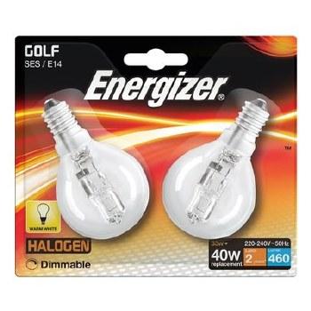 ENERGIZER ECO HALOGEN 33W (40W) E14 CLEAR GOLF BALL LAMP CARD 2