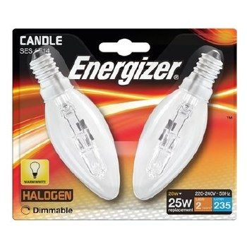 ENERGIZER ECO HALOGEN 20 W (25W) E14 CLEAR CANDLE LAMP CARD 2