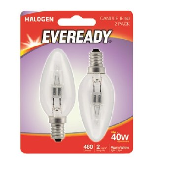 EVEREADY 33W (40W) E14 HALOGEN CANDLE LAMP