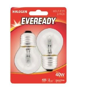 EVEREADY 33W (40W) E27 HALOGEN GOLF BALL LAMP