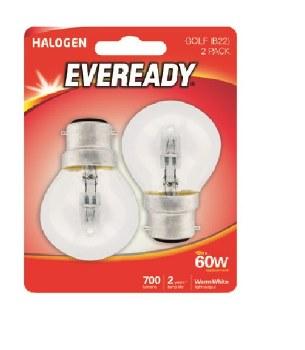 EVEREADY 46W (60W) B22 HALOGEN GOLF BALL LAMP