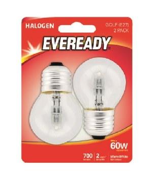 EVEREADY 46W (60W) E27 HALOGEN GOLF BALL LAMP