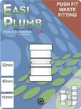 "Easi Plumb 1 1/2"" / 40mm Straight Coupling"