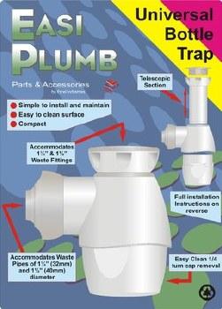 """Easi Plumb 1 1/2"""" Bottle Trap"""