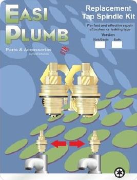 "Easi Plumb Pair 3/4"" Replacement Brass Spindles including Bushings"