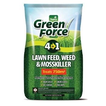 HYGEIA GREENFORCE LAWN FEED WEED & MOSSKILLER 15 KG