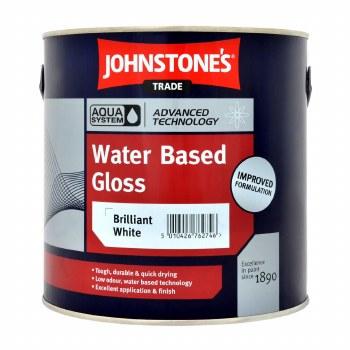 JOHNSTONE AQUA WATER BASE GLOSS BRIL WHITE 2.5 LTR